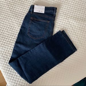 NWT LOFT curvy straight dark denim